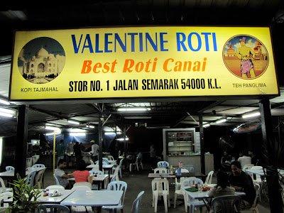 Valentine Roti, Best Roti in Kuala Lumpur? Malaysia
