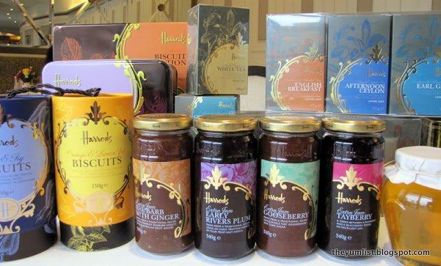 Harrods KLCC, retail, Jam, biscuits, tea