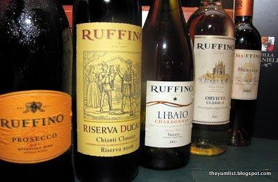 Ruffino Wine Dinner at Villa Danieli, Sheraton Imperial, Kuala Lumpur, Malaysia