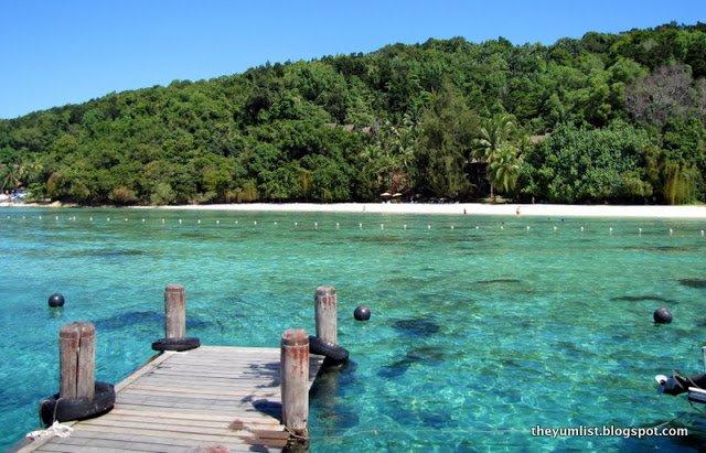 Tanjung Aru, Borneo, Beach resort, Shangri la