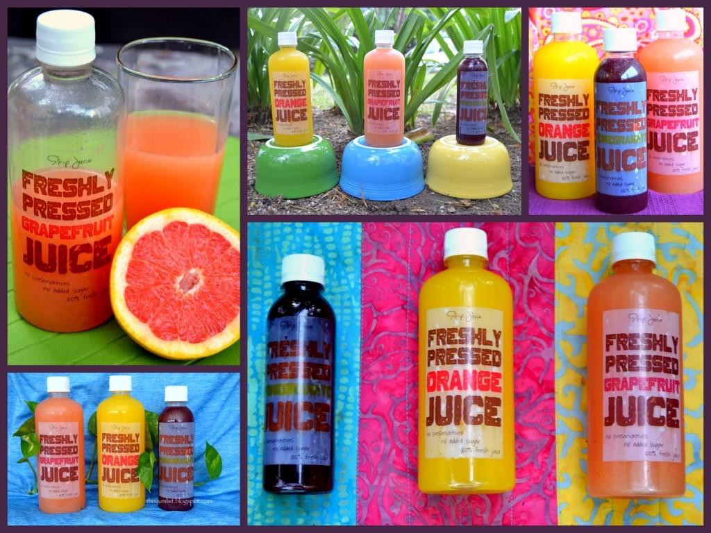 Strip Juice offers freshly pressed orange, grapefruit and pomegranate juice
