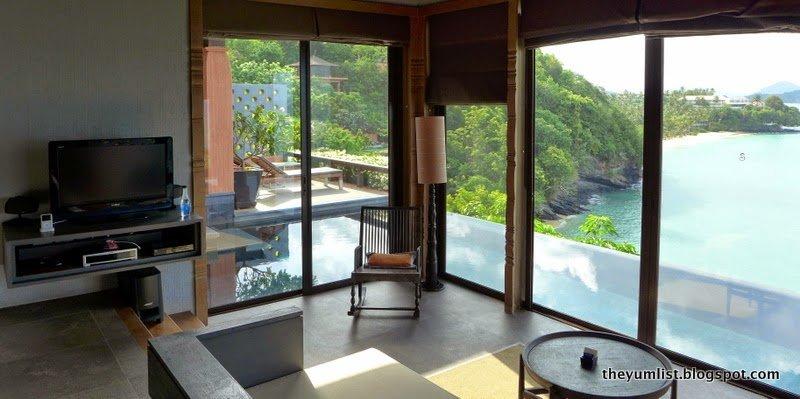 Sri panwa luxury villas phuket thailand the yum list for Master bedroom living area