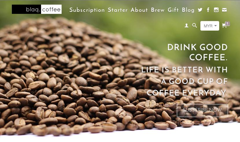 Blaq Coffee, Coffee Subscription in Malaysia