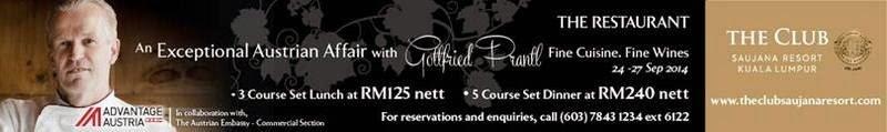 An Austrian Affair with Chef Gottfried Prantl, The Restaurant, The Club, Saujana Resort Kuala Lumpur, Malaysia