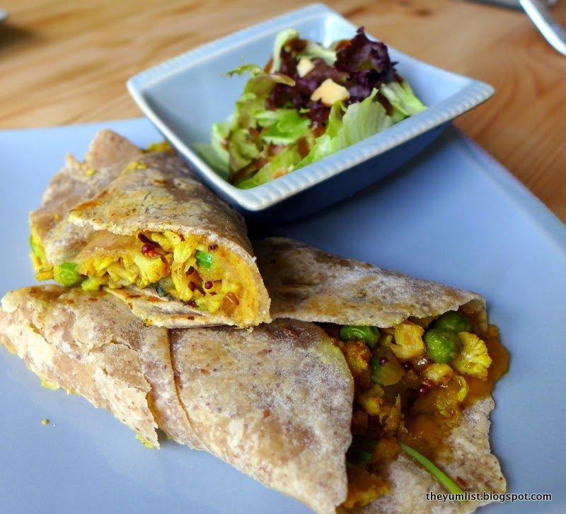 Mango Masala, Cauliflower, Curry Hummus and Spinach on a Coconut Oil ...