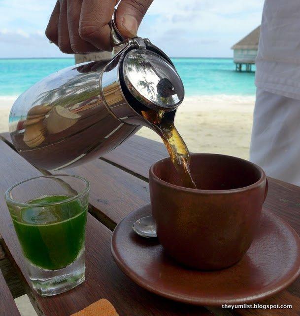 Breakfast at Gili Lankanfushi, Maldives