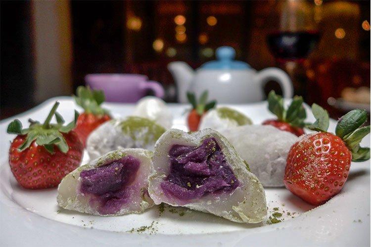 Sweet Potato Filled Mochi at Indulgence Restaurant