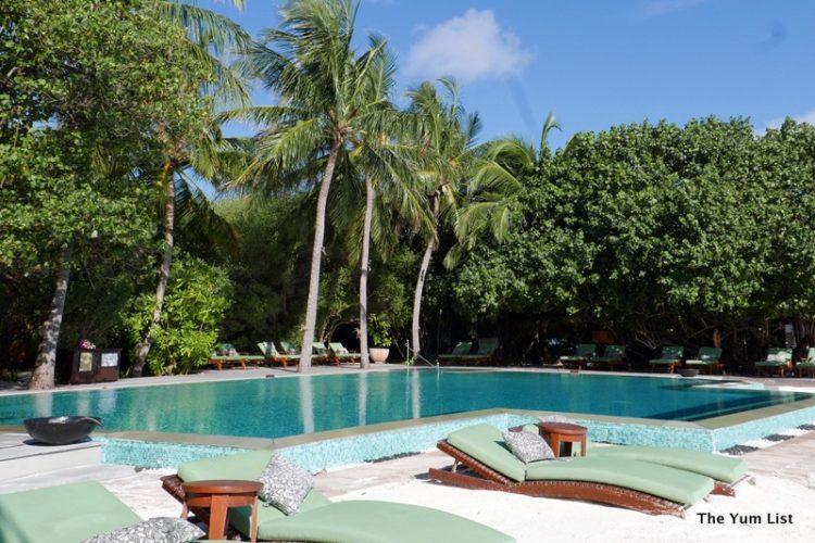 Poolside Taj Exotica Resort and Spa Maldives