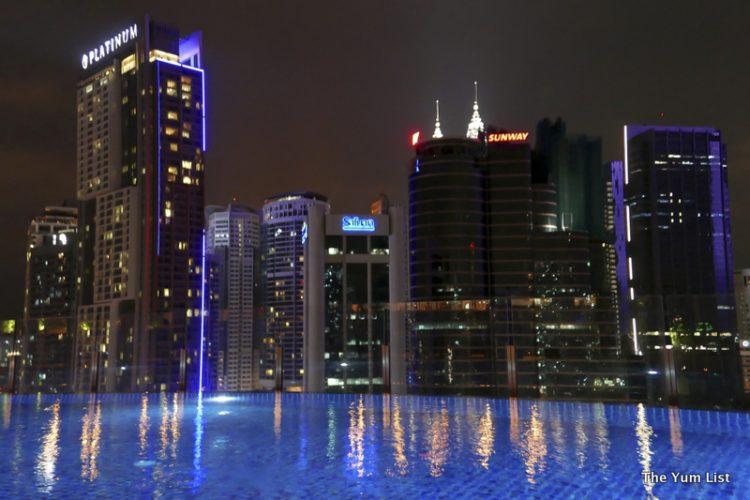 Night Views from Mantao Bar, Rooftop Hotel Stripes Kuala Lumpur
