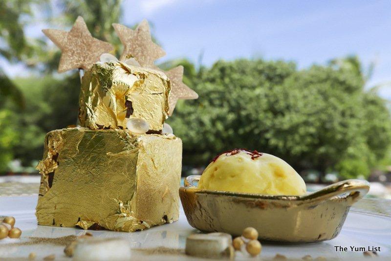 24-Carat Gold Dessert, Taj Exotica Resort and Spa Maldives