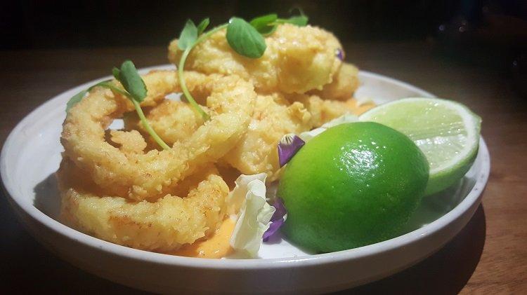 Calamari Fritti at Joe's Bar, East Hotel, Canberra