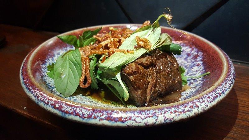 Beef short rib with tamarind caramel and Thai basil - Akiba, Canberra, Australia