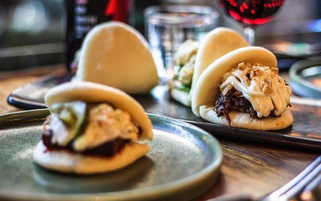 A selection of steamed buns or 'bao' - Akiba, Canberra, Australia