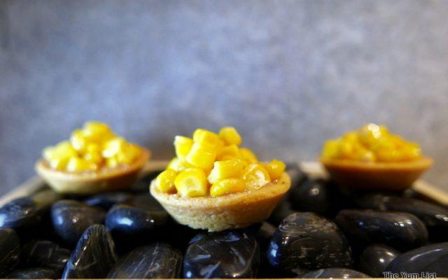 Sweet Corn Tartlets with Foie Gras Mousse