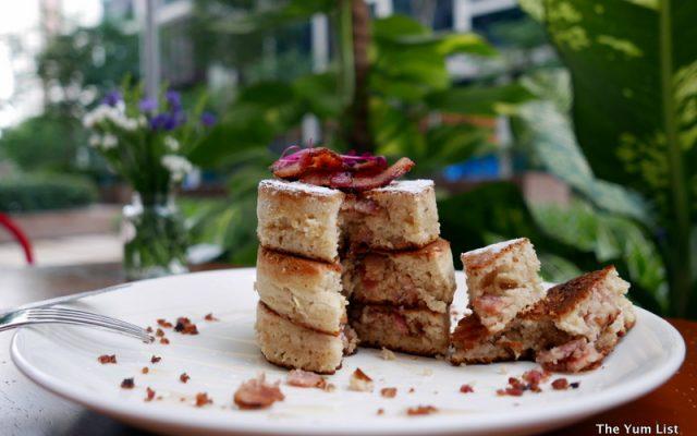 Bacon-stuffed Pancakes