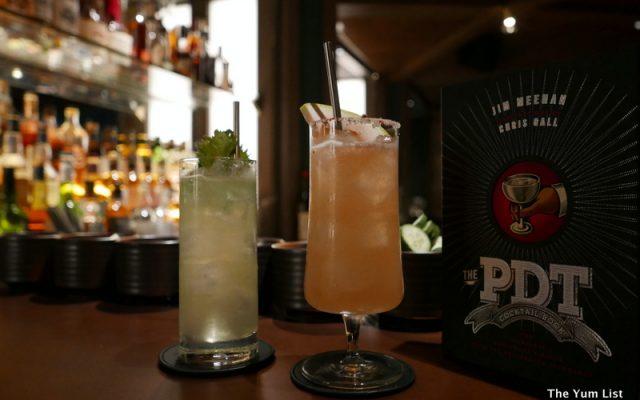 Cocktails at PDT Hong Kong