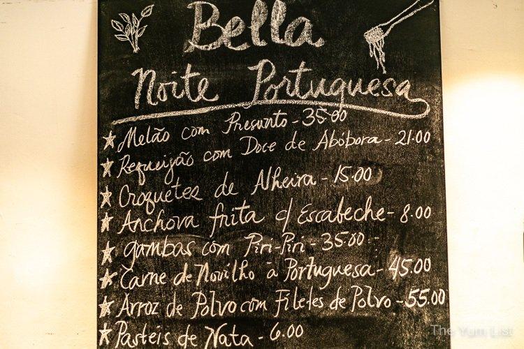 Portuguese Food Kuala Lumpur, Bella by BIG